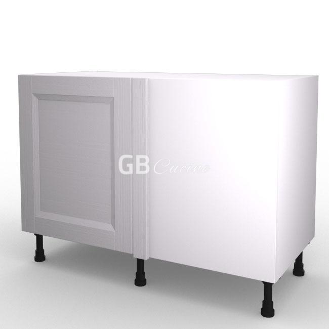 White Frame Meuble Bas Angle Droit 1 Porte De 60 Charnieres